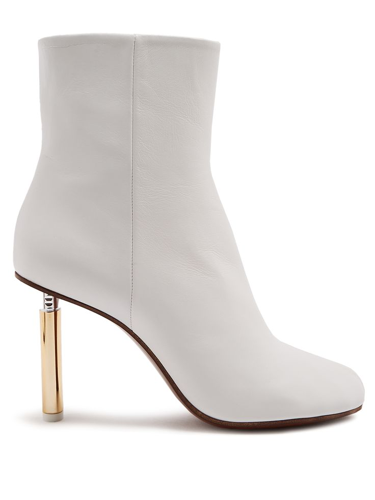 Lighter-heel Leather Ankle Boots by VETEMENTS. #vetements #ankleboots # booties