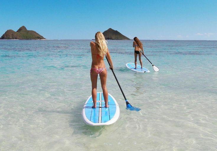 Stand up paddle boards in Lanikai, HI