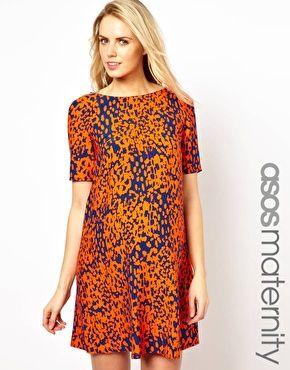 ASOS Maternity Shift Dress In Animal Print - Baby Shower dress?