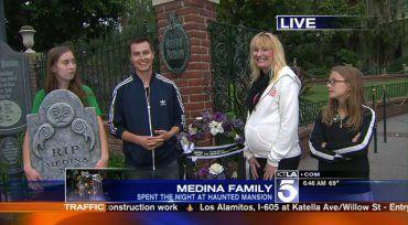 Winning Family Stays Overnight at Disneyland's Haunted Mansion   KTLA
