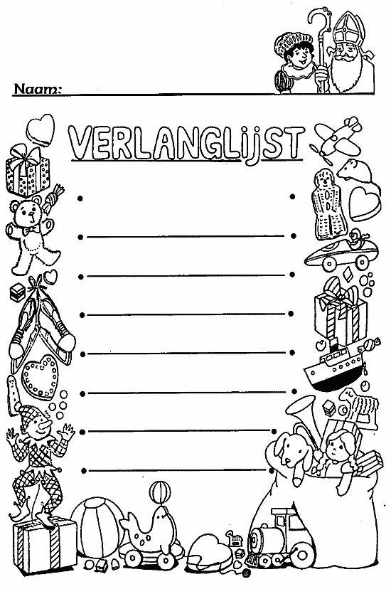 Verlanglijst Sinterklaas #verlanglijst #Sinterklaas