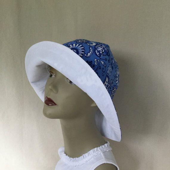 Ladies Sun Hat Floppy Hat Gardening Hat Big Brim Hat by 4PennyGirl