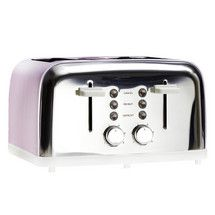 Candy Rose Collection Pink 4 Slice Toaster Dunelm