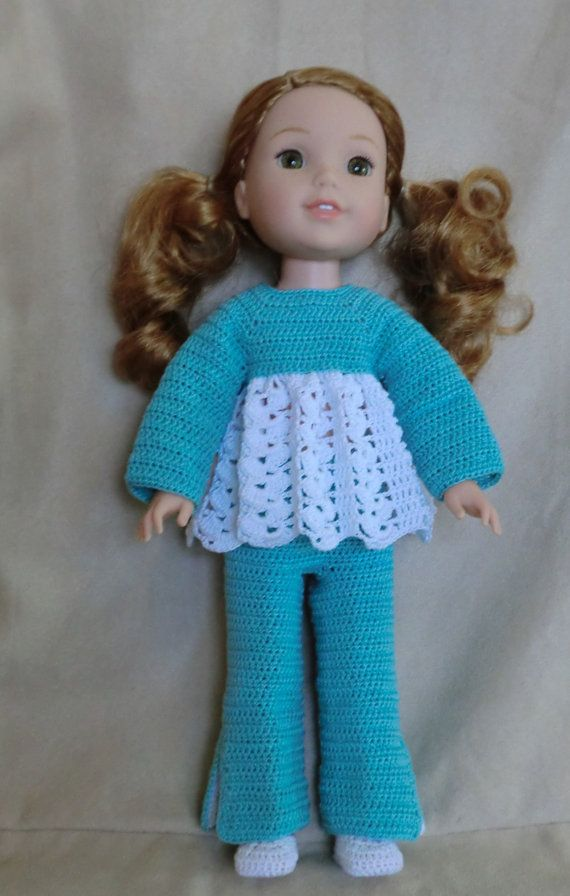 WW 5  Pants Set Crochet pattern for Wellie Wisher by barbsdolls