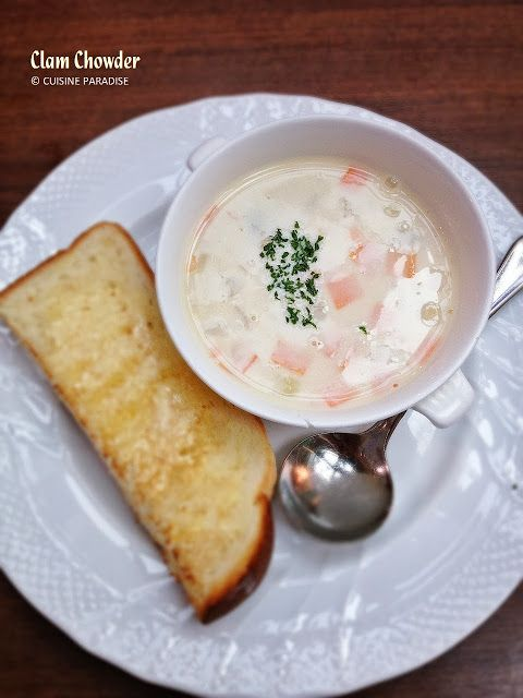 Cuisine Paradise | Singapore Food Blog | Recipes, Reviews And Travel: Hoshino Coffee - 星乃珈琲店 -  Clam Chowder Soup (SG$6.50)