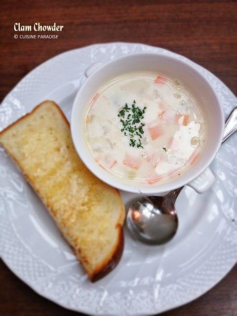 Cuisine Paradise | Singapore Food Blog | Recipes, Reviews And Travel: Hoshino Coffee - 星乃珈琲店 -  Clam Chowder Soup (SG$6.50)