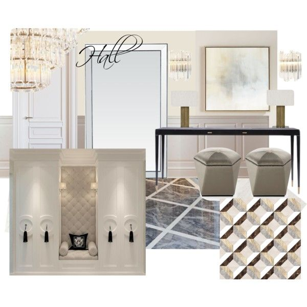 hall 2 zr by naala-art on Polyvore featuring polyvore, interior, interiors, interior design, home, home decor, interior decorating, John-Richard and Mistral