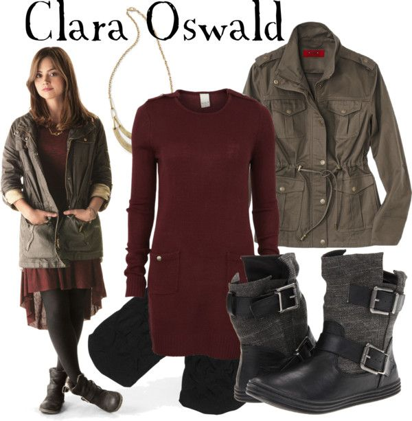 """""""Clara Oswald"""" by companionclothes ❤ liked on Polyvore  one episode in and i already know i want her entire closet."""