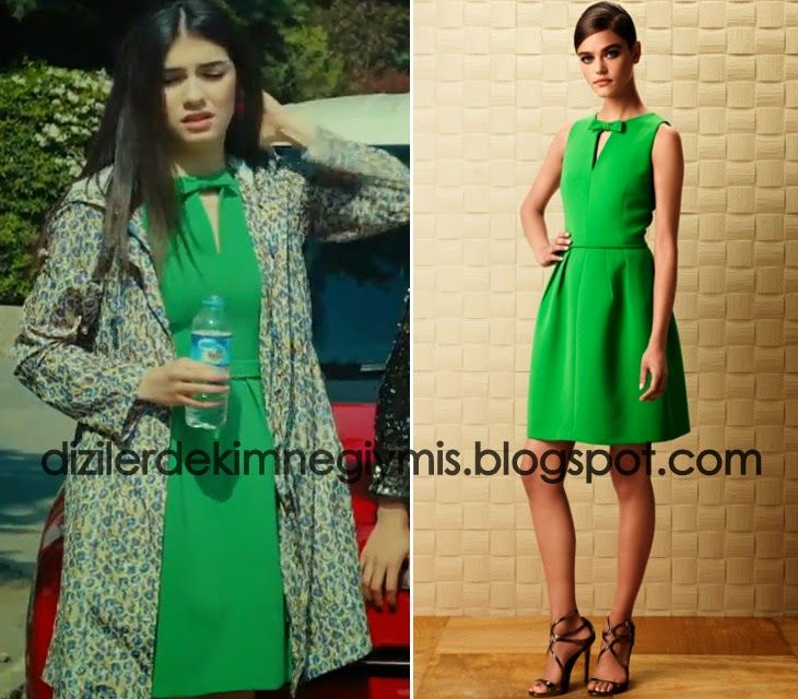 Medecezir - Eylül (Hazar Ergüçlü), Green Dress