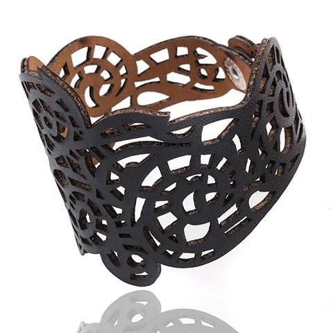 Gothic Lace Leather Bracelet - Rebel Style Shop - This gothic accessory features unique and intricate craftsmanship, adding elegance to your outfits. Available in four colors, the bracelet can also work with other styles such as pastel goth and Bohemian. It is a perfect choice for those summer concerts, as well as a gift for your stylish friends.