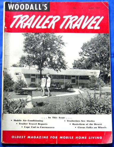 Vtg June 1959 Woodalls Motor Mobile Home Trailer Travel Magazine Ad Camper RV