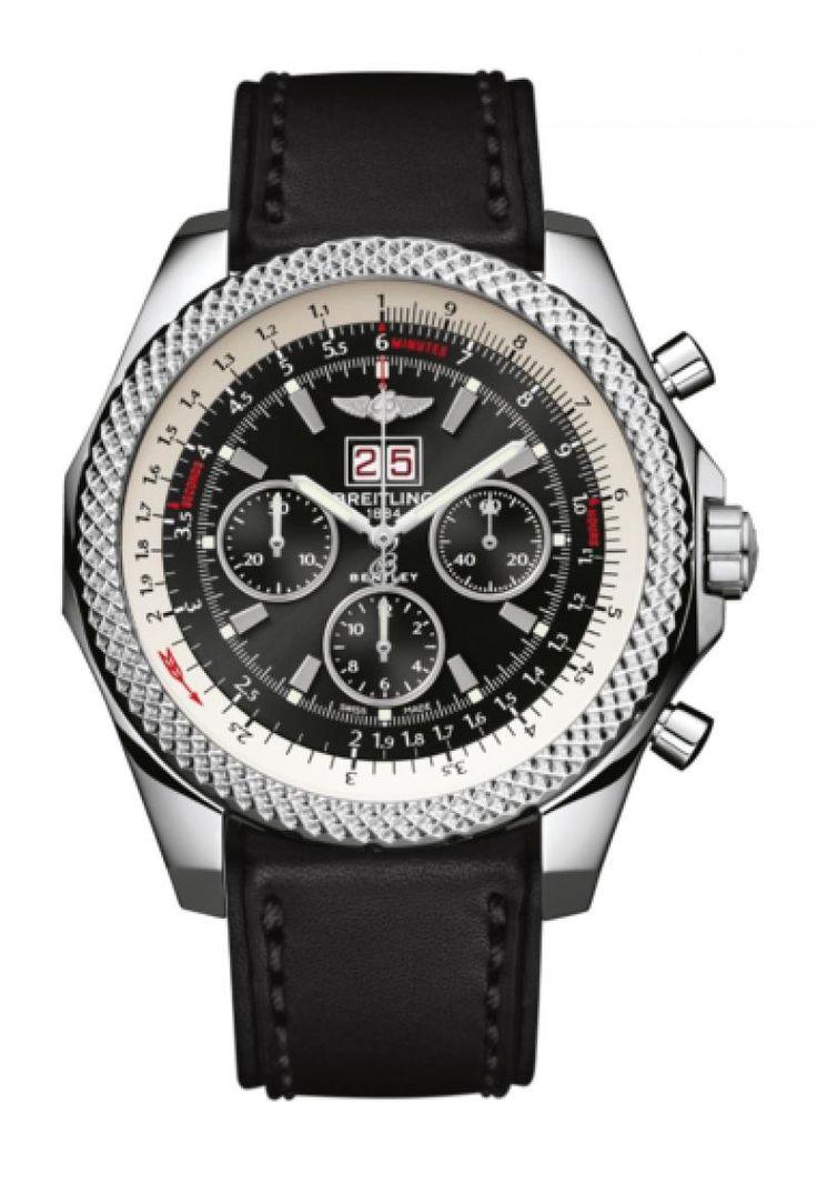 Breitling A4436412/B959/478X/A20BA.1 for Bentley 6.75 - швейцарские мужские часы наручные, стальные, черные