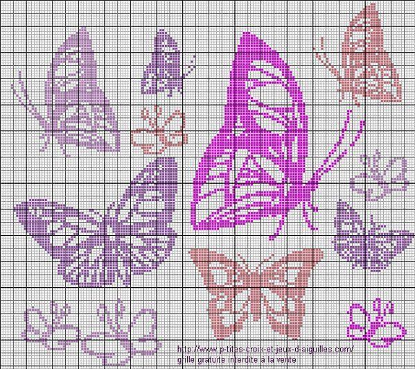 18 best schemi punto croce farfalle images on pinterest for Farfalle punto a croce