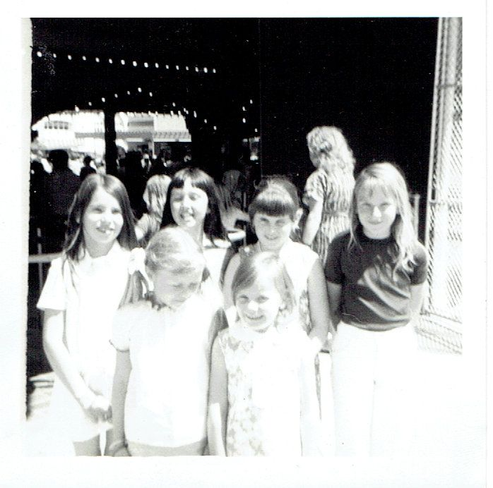 School friends at my birthday party? I think it's at Luna Park. I have vague recollections about going there around this time.
