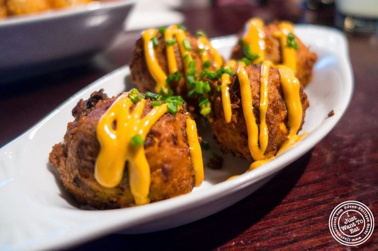 image of chorizo and goat cheese fritters at The NiteHawk Movie Theater in Brooklyn, NY