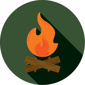 Campfire   Graphic Design   Design   Icon   Flat   Simple   Fire   Flames   Camping   Summer