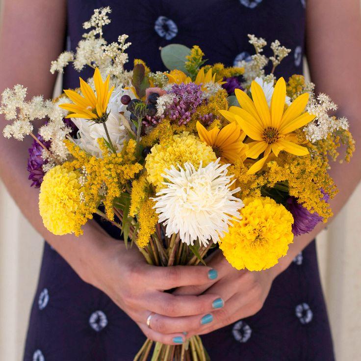 Late summer wild flowers bouquet