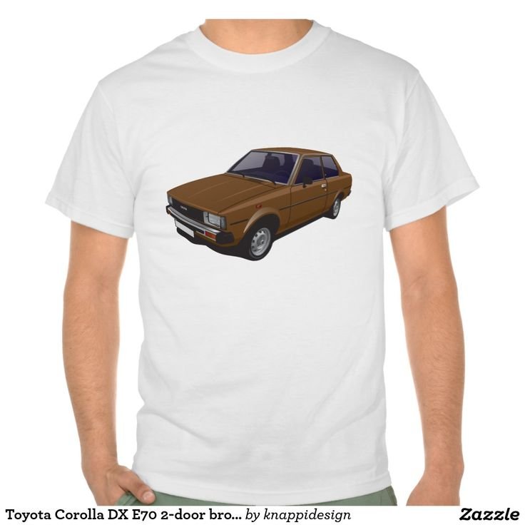 Toyota Corolla DX E70 2-door version brown t-shirt  #toyota #corolla #corolladx #corollaE70 #tshirt #tshirt #shirt #automobile #cars #bilar #bil #auto #tröja #japan #japanese #nippon #80s #70s #toyotacorolla  https://automobile-t-shirts.blogspot.fi/2015/08/toyota-corolla-ke70-t-shirts-and-gifts.html