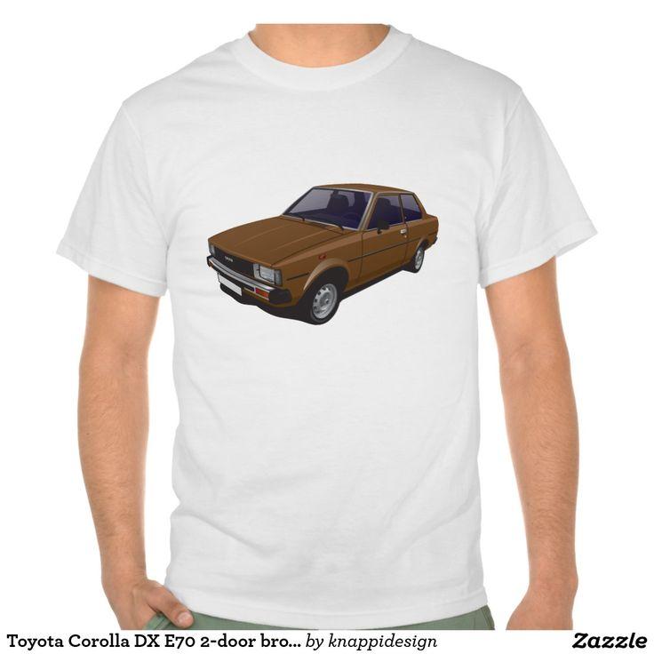 Toyota Corolla DX E70 2-door version brown t-shirt  #toyota #corolla #corolladx #corollaE70 #tshirt #tshirt #shirt #automobile #cars #bilar #bil #auto #tröja #japan #japanese #nippon #80s #70s #toyotacorolla