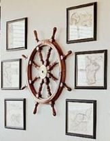 Nautical Decor Ideas  And the pictures around are all the places the two of you have been out of the USA