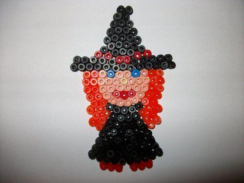 petite sorcière  en perle hama cliquez sur la photo pour voir le modèle