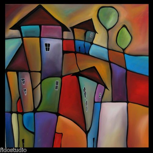 """""""Somewhere Else"""" MODERN HUGE ABSTRACT PAINTING ORIGINAL HOME CONTEMPORARY DECO ART by FIDOSTUDIO"""