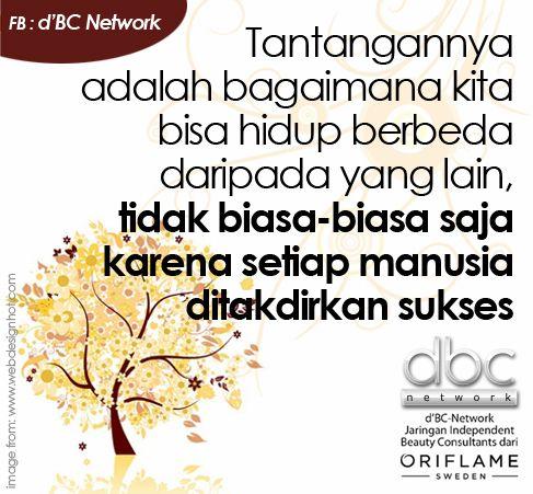 Tantangannya adalah bagaimana kita bisa hidup berbeda daripada yang lain, tidak biasa-biasa saja karena setiap manusia ditakdirkan sukses #dBCNQuote #QuoteImage