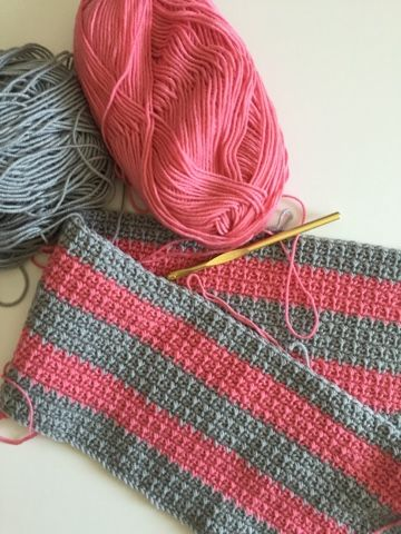 The mesh stitch is a very easy stitch to do with fantastic results. I like that both sides of the blanket look the same. There is no right ...