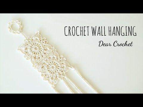 (209) 코바늘 패턴을 응용해서 벽걸이 장식 만들기(Crochet wall hanging) /코바늘 홈 데코 - YouTube