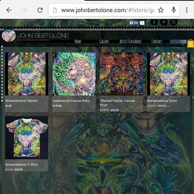I have joined some sort of modern age and upgraded my art slanging game to include a snazzy self built website with an online store . check it out  at.  www.Johnbertolone.com  #art #website #upgradeyourlife #pigmentpusher #visionaryart #trippy #dude #swag #cream #johnbertolone #tshirts #prints #stickers