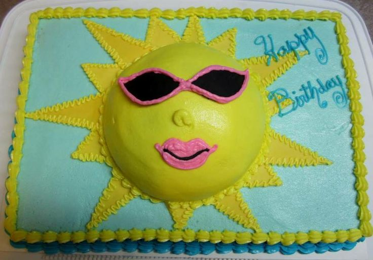 The 25+ best Sun cake ideas on Pinterest | Sea turtle ...
