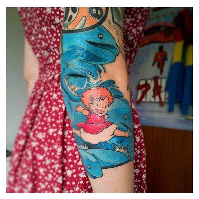 Küçük deniz kızı Ponyo ������ #hayao #miyazaki #karakter #renk #mavi #kırmızı #turuncu #kol #dövme #dovme #dövmem #dövmeci #dövmesanatı #dövmemodelleri #dövmeistanbul #mutluluk #cartoon #tattoo #animasyon #çizgifilm #girl #kız #love #aşk �������� http://turkrazzi.com/ipost/1517699564689033424/?code=BUP87aFDgjQ