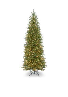 National Tree Company 10-Ft. Dunhill Fir Slim Tree With Clear Lights - Green - 120
