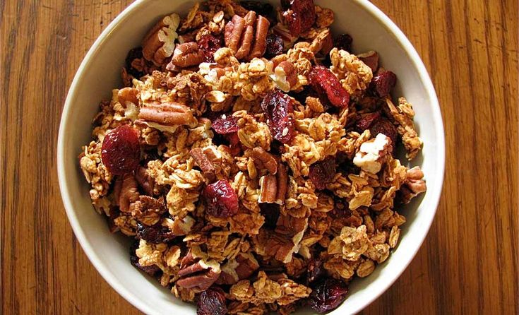 Cranberry Pecan Granola. This recipe is almost gluten free if you find ...