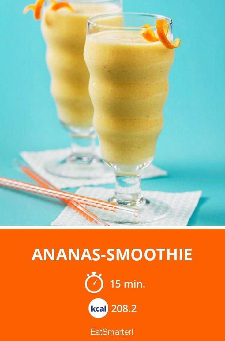 Ananas-Smoothie - smarter - Kalorien: 208.2 Kcal - Zeit: 15 Min. | eatsmarter.de