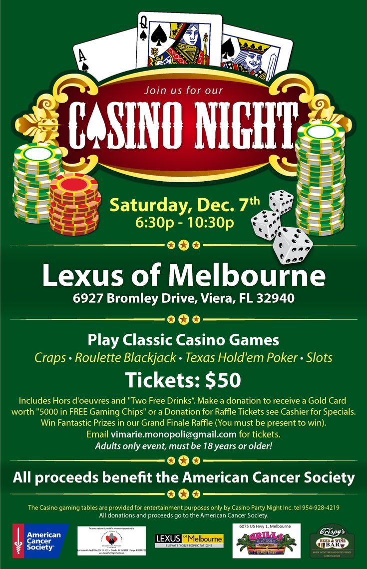17 Best Images About Casino Night Fundraiser Ideas On