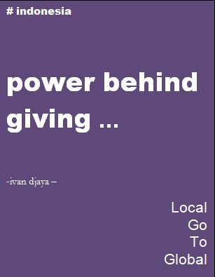 Power behind giving
