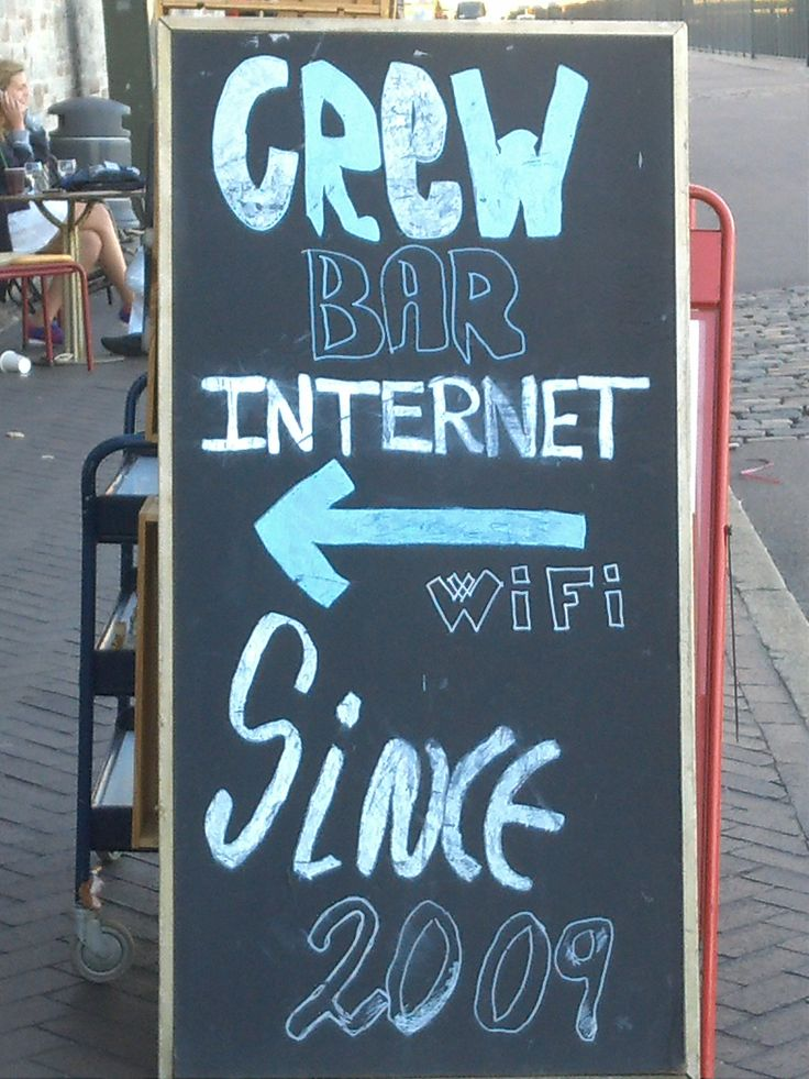 Sig du har INTERNET