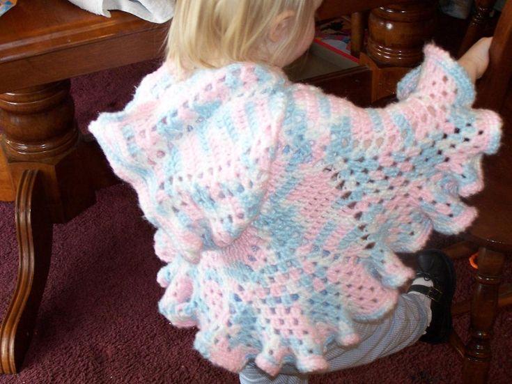 Tlc+Baby+Free+Crochet+Patterns | Bernat: Pattern Detail - Satin - Cool Poncho (crochet)