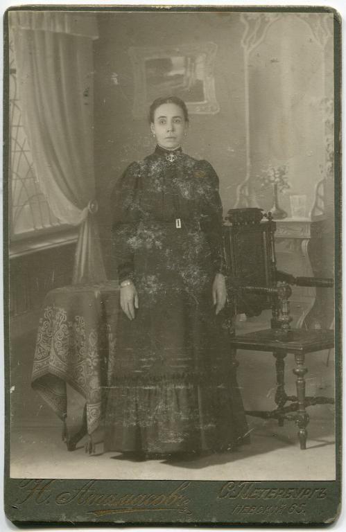Старинное фото. Женщина, дворянка. фотография Н. Атамасов. Ст.Петербург
