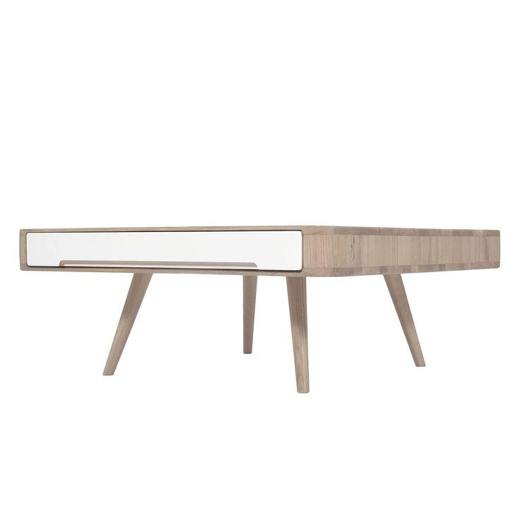 Couchtisch Loca I - Wildeiche teilmassiv - Weiß / Wildeiche hell, Studio Copenhagen Jetzt bestellen unter: https://moebel.ladendirekt.de/wohnzimmer/tische/couchtische/?uid=051d9fbc-6aee-5a92-8f58-1a6af03ae201&utm_source=pinterest&utm_medium=pin&utm_campaign=boards #studio #möbel #copenhagen #beistelltische #couch #wohnzimmer #couchtische #tische