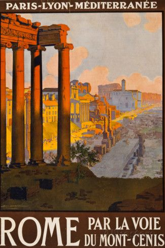 Rome Italy Tourism Travel Vintage Ad Photo at AllPosters.com