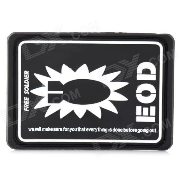 Free Soldier EOD Decorative Rubber Velcro Armband - Black   White Price: $3.40