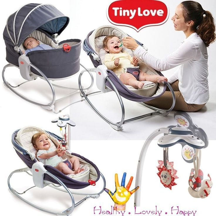 Tiny Love 3 in 1 Rocker Napper Baby Sleeping Feeding Vibrating Bouncer Chair Gre
