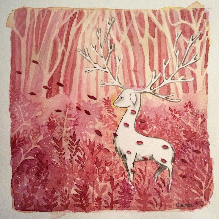 Deep in the Woods #watercolor #childrensbookillustration #Instaart #dailydrawing #deer #woods #illustrator #illustagram #Instadraw #iloveart ##illustrationen #illustrationoftheday #picoftheday #Sketch #characterdesign #Drawing #doodle #Artsy #Art #aureanden #aurenillustration #artofdrawingg #artoftheday #art_we_inspire #art_spotlight #kidlitart #kinderillustration