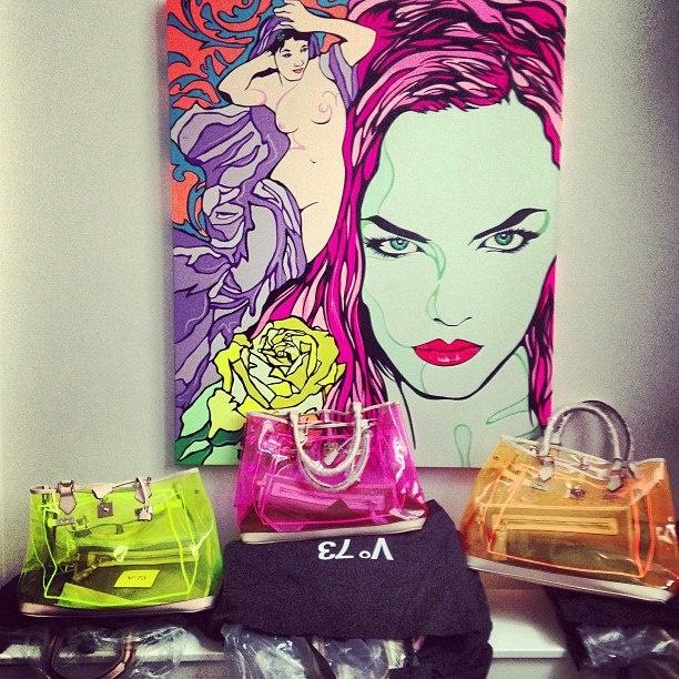 PVC love! V73 New Holiday PVC collection http://www.v73.us/new-holiday/pvc #v73 #bag #pvc #fluo #v73mood