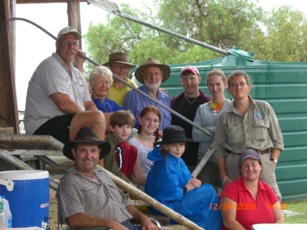 The extended Steinfort Family from the USA enjoyed Christmas Eve at the Farmstay and woke up on Christmas morning in the Aussie Bush!