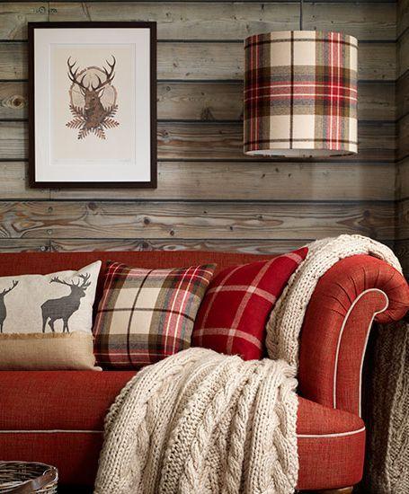 decorare casa con il tartan cuscini