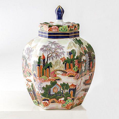 Temple Garden Jar Ginger Jars Decor Jar Temple Gardens