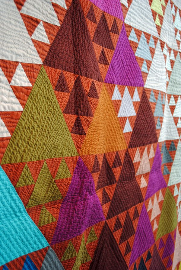 love the color. Homebuildlife: Geometrics at Tokyo Quilt Festival 2012